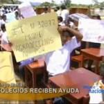 DEVIDA entregó mobiliario escolar a colegios del centro poblado de Paraíso