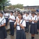 Jefe del Frente Policial del Huallaga juramenta a 500 policías escolares en Aucayacu