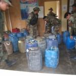 Incautan 2,500 galones de kerosene destinados al narcotráfico en la provincia de Padre Abad
