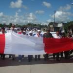 Aucayacu dijo NO a la violencia y en multitudinaria marcha exigió paz y seguridad