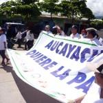 Autoridades y sociedad de Aucayacu emitieron un pronunciamiento condenando la violencia desatada en esa zona