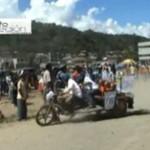 Celebran aniversario de Kimbiri con carrera de mototaxis
