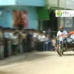 Carrera de mototaxis en el VRAE