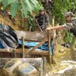 En dos operativos sucesivos, policía antidrogas destruyó 11 laboratorios de PBC en el VRAE