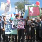 """Más de tres mil escolares huamanguinos dijeron sonoro """"No a las drogas"""""""