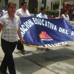 Docentes marcharon en San Francisco y Kimbiri en solidaridad con reclamos de comunidades amazónicas