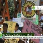 Escolares y pobladores del VRAE realizaron pasacalle en defensa del Medio Ambiente