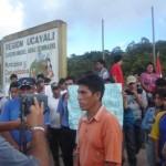 Pobladores de La Divisoria paralizan obras en carretera Federico Basadre