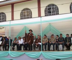 Pobladores de Santa María del Valle participaron en ceremonia oficial