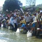 Autoridades y población de distrito de Kimbiri repoblaron río Apurímac con 5 mil peces