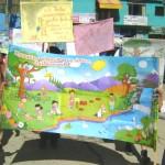 Pobladores y escolares del VRAE se pusieron de pie en defensa del Medio Ambiente