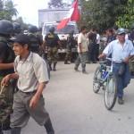 Cocaleros de Aucayacu intentaron bloquear carretera Fernando Belaunde
