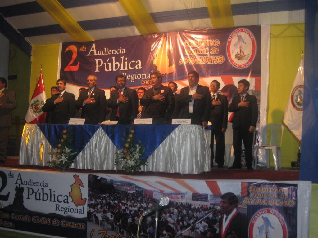 Solo cuatro alcaldes provinciales asistieron a audiencia pública regional en Ayacucho