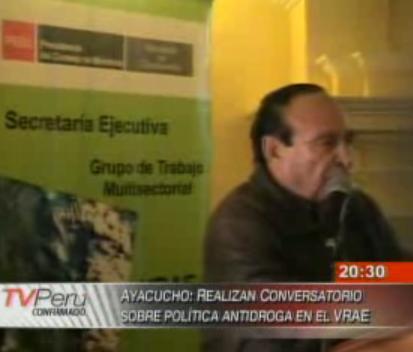 Informan sobre reunión de evaluación de política antidrogas realizada en Ayacucho