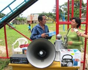 Pobladores recibieron también del PDA un equipo de radiobocina para mejorar su sistema de comunicación local