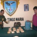 Policía incautó cerca de seis kilos de pasta básica de cocaína y once kilos de acetona