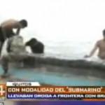 Encuentran 118 kilos de droga camuflados en canoa (video)