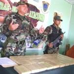 Decomisan 55 kilos de pasta básica de cocaína en camión que venía del VRAE a Lima