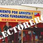 Movimiento vinculado a Sendero Luminoso pide amnistía general y anuncia participación en elecciones
