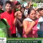 Policía desalojó a 500 invasores de terrenos del Estado en Pichari, VRAE (video)