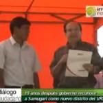 Reconocen a Samugari como nuevo distrito del VRAE (video)