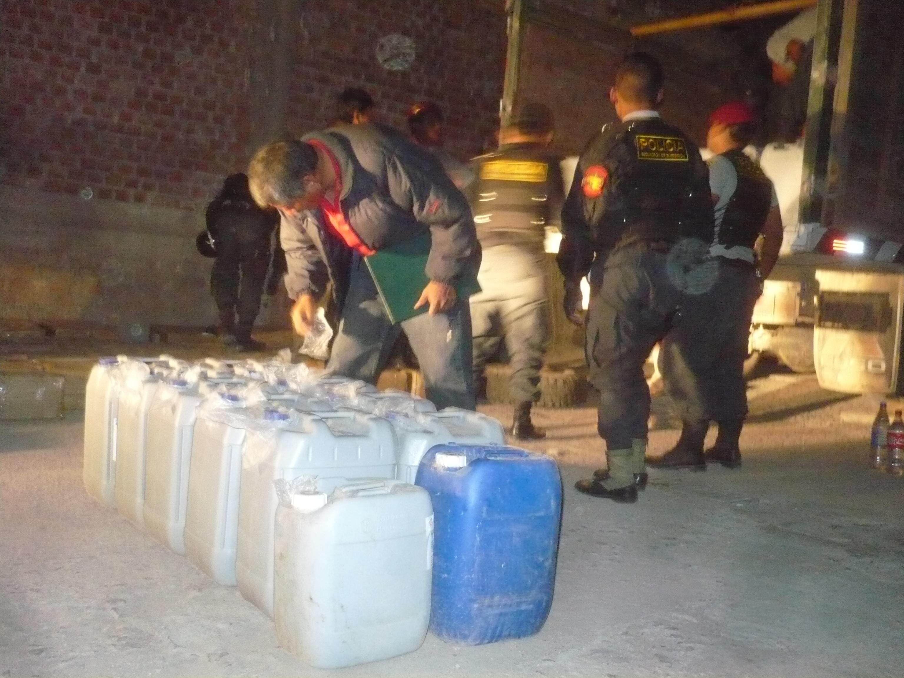 Incautan ocho toneladas de insumos químicos en Ayacucho en seis primeros meses del año