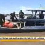 Decomisan 1200 kilos de insumos químicos fiscalizados en el río Ucayali (video)