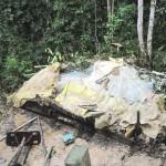 Policía destruye otro laboratorio de drogas en zona de erradicación en Pumahuasi