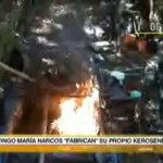 Incautan 50 galones de kerosene e insumos químicos para elaborar droga en Tingo María (video)