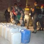 Escuadrón de Emergencia incautó 62 galones de insumos químicos para elaborar drogas