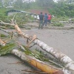 Trabajadores del municipio de Padre Abad llevan alimentos a piquetes que bloquean carretera