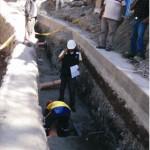 Parlamentarios inspeccionan obras de drenaje pluvial en Huamanga