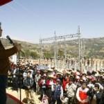 Presidente Alan García inaugura obras de energía eléctrica en Huánuco