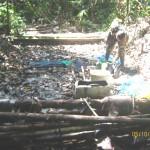 Policía continúa desactivando laboratorios de PBC durante erradicación en Abujao, Ucayali