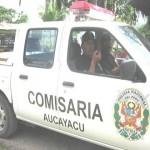 Comisario perifonea por las calles de Aucayacu alertas contra accidentes de tránsito
