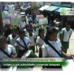 Escolares del VRAE exigen conservar los bosques (video)
