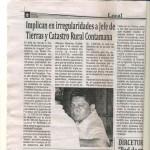 Funcionario de Agencia Agraria de Ucayali acusado de recibir dinero por parte de terceros
