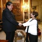 Presidente García se reunió con alcaldesa electa de Lima Susana Villarán