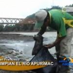 Estudiantes limpian orillas del río Apurímac en San Francisco y Kimbiri (video)