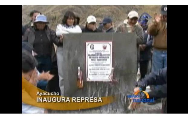 Presidente regional de Ayacucho inaugura represa en Huanta (video)