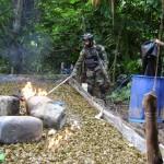 Policía destruye laboratorio de drogas en ramal de Aspuzana, otrora centro del narcotráfico