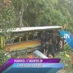 Omnibus donde murieron 17 en Huánuco circulaba con SOAT vencido