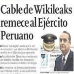 Cable de Wikileaks remece al Ejército Peruano