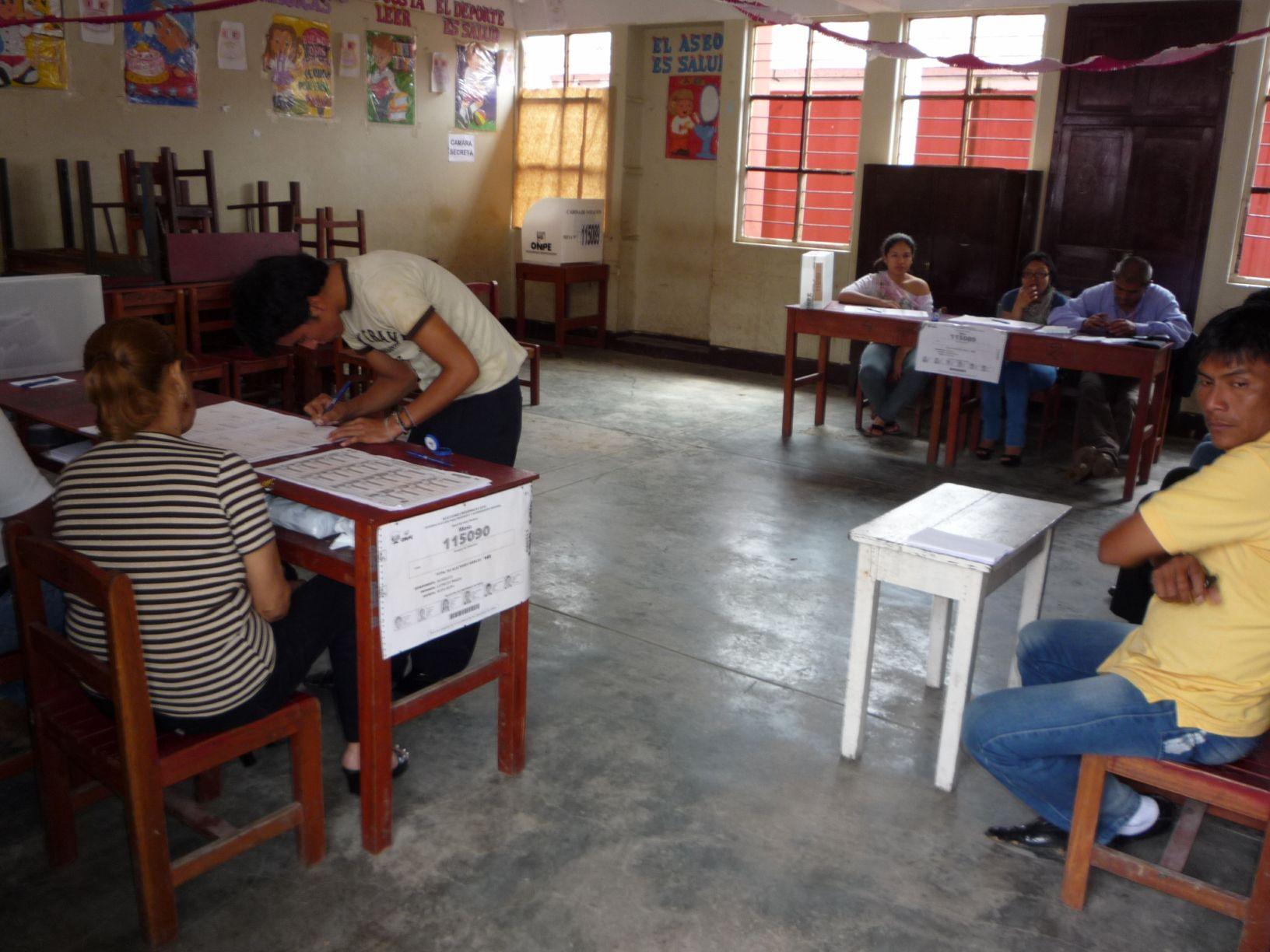 Resultados preliminares de las elecciones regionales en Huánuco, Ayacucho y Madre de Dios