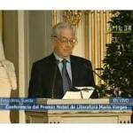 Emotivo discurso de Mario Vargas Llosa en Estocolmo (video)
