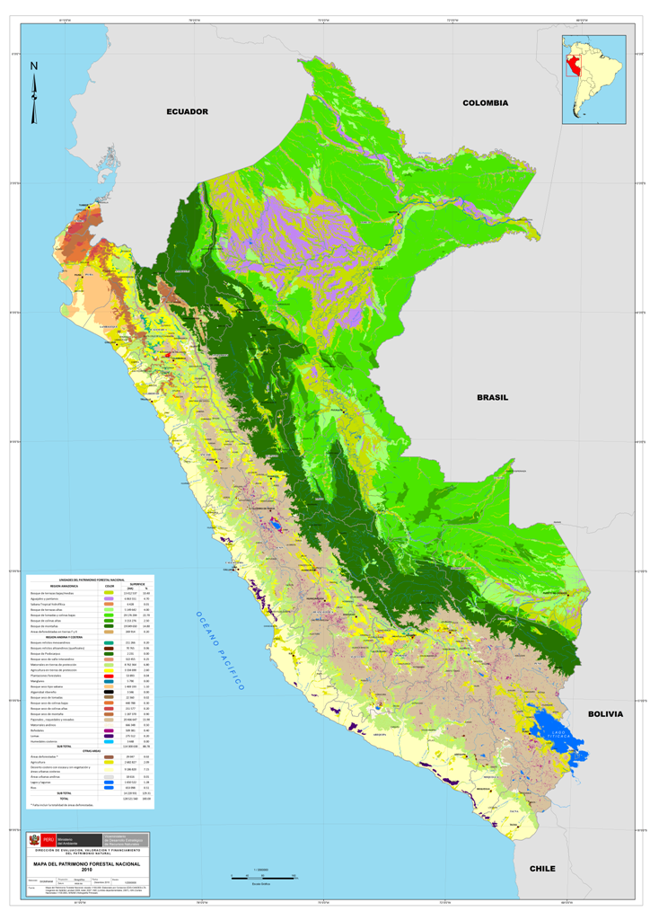 Ministerio del ambiente elabora mapa del patrimonio for Ministerio del interior ubicacion mapa