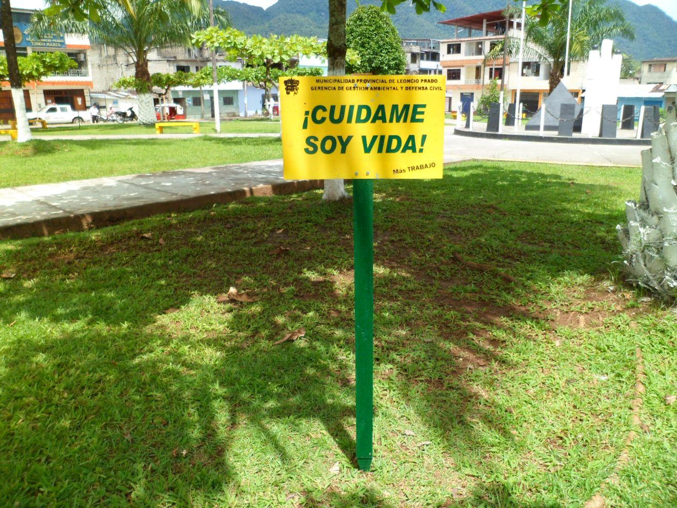 Colocan letreros para cuidar el medio ambiente | Inforegion