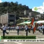 Celebraron XIX aniversario de Kimbiri