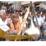 Colocan primera piedra de asfaltado de vía Tingo María-Cueva de las Lechuzas (video)