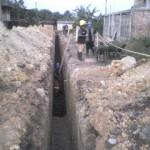 Culminan obras de ampliación de desagüe en asentamiento humano de Tingo María